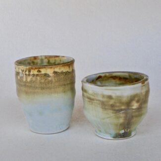 JL22: Set of Ashy Porcelain Juice Cups