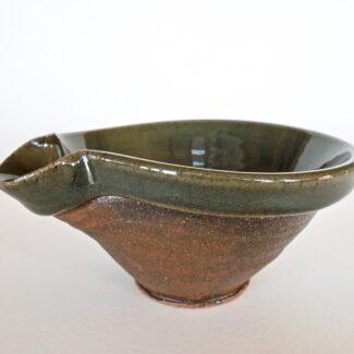 JL8: Small Celadon W/Wash Mixing Bowl