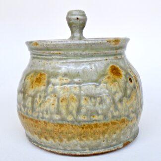 JL82: Small Ashy Coverd Jar