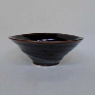 JL54- Tiny Tenmoku Swirl Bowl