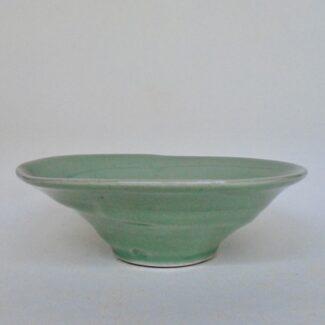 JL52- Soft Celadon Swirl Bowl