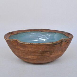 JL80: Small Ying Qing w/wash Lobe Bowl