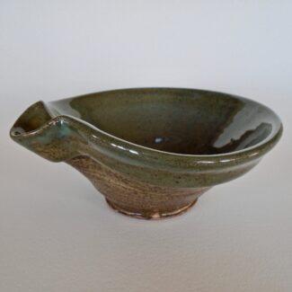 JL4: Small Celadon W/Wash Mixing Bowl