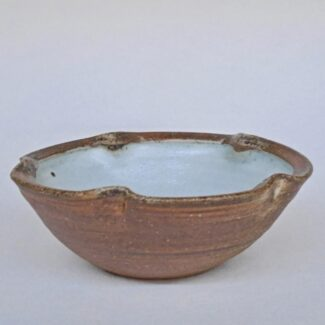 Small Anne's White w wash Lobe Bowl