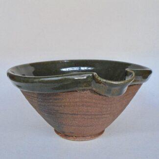 JL195- Large Celadon w wash Mixing Bowl