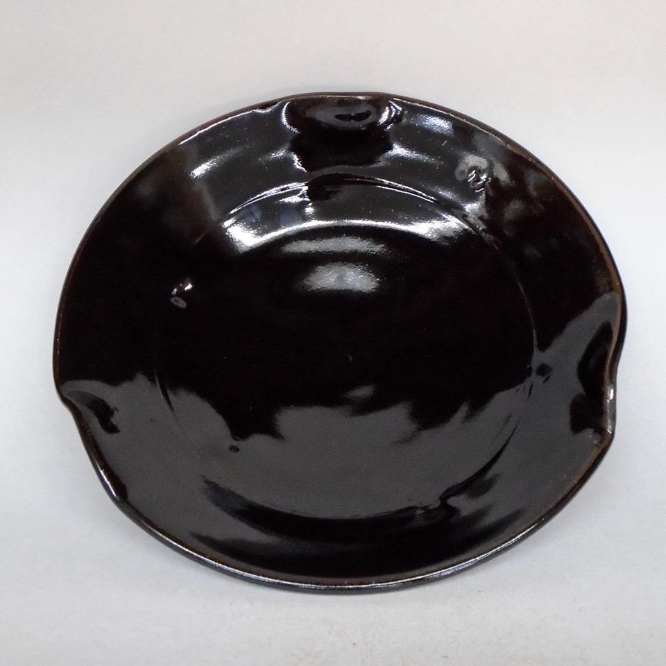 Tenmoku Porcelain Flare Bowl