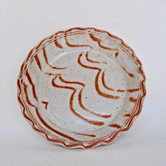 JL148: White Shino Pie Plate