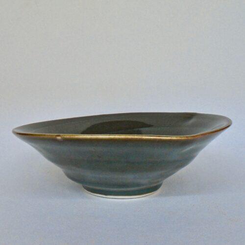 JL120 Small Celadon Swirl Bowl