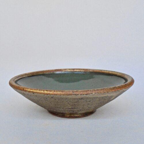 JL214: Celadon w/wash Soup Bowl
