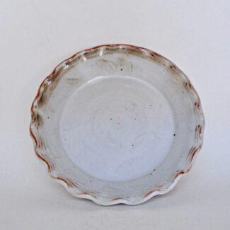 JL256: White Shino Pie Plate