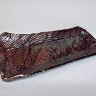 JL267: Tenmoku Medium Slab Tray