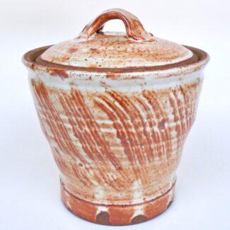 JL396: Medium Shino Covered Jar
