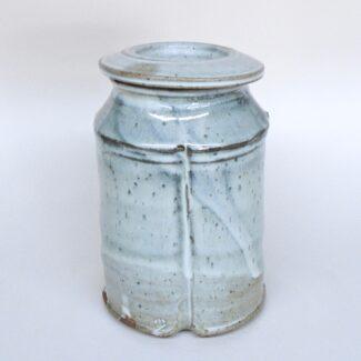 JL405: Anne's White Squared Covered Jar